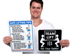 Lifting Instruction Labels and Signs