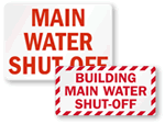 Water Shut-off Label