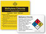 Methylene Chloride Labels