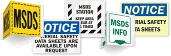 MSDS Location Signs