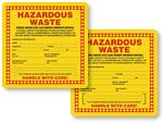 New Jersey Hazardous Waste Labels