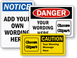 "OSHA ""Traditional"" Style of Custom Safety Labels"