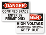 OSHA Danger Labels