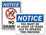OSHA Notice Labels