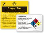 Oxygen Gas Labels