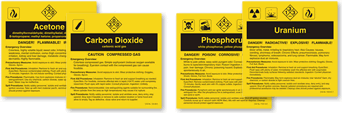 Pre-Printed ANSI Lables by Chemical Title