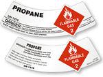 Propane Gas Cylinder Shoulder Labels