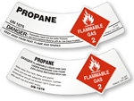 Propane Gas Cylinder Shoulder Labels