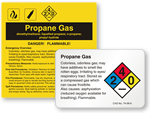 Propane Gas Labels