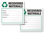 Recovered Materials Labels