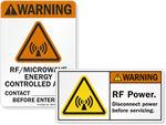 Microwave, MRI, X-Ray Radiation Labels
