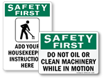 Safety First Labels