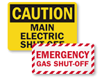 Electric Shut Off Labels