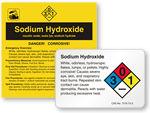 Sodium Hydroxide Labels