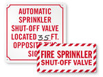 Sprinkler Shut Off Labels