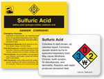 Sulfuric Acid Labels