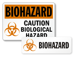 Biohazard Symbol Stickers