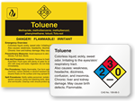 Toluene Labels