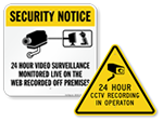 Video Recording Warning Signs