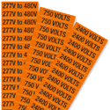 Voltage Marker Labels, Small