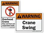 Crane Warning Labels