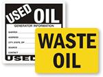 Waste Oil Labels