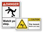 Watch Your Step Labels