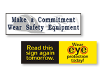 Wear Personal Protective Equipment Safety Banners