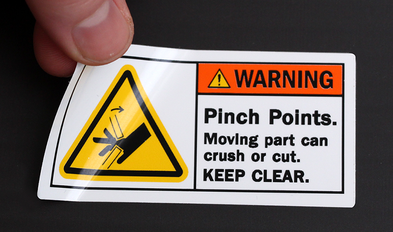 warning labels stickers and decals in both ansi and osha headings
