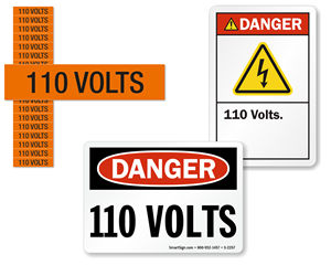 High Voltage Signs – 110 Volts
