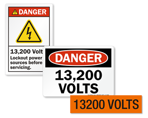 High Voltage Signs – 13200 Volts