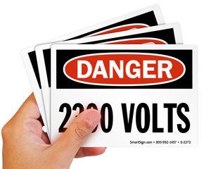 2300 volts labels