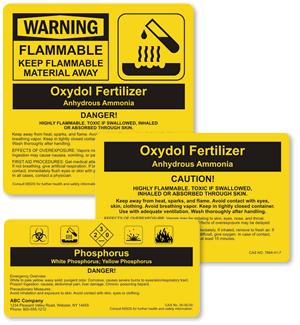Custom ANSI Chemical Labels