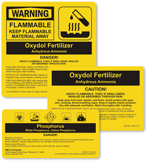 Custom ANSI Chemical Labels