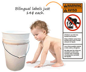 Baby in the Bucket Labels
