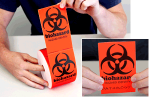 Biohazard Fluorescent Labels