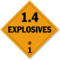 Class 1.4, 1.5 and 1.6 Explosives