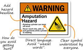 ANSI Z535 Custom Safety Labels