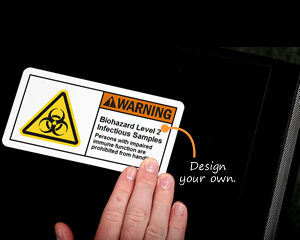 Custom Biohazard Label Sign