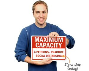 Custom maximum capacity sign