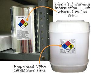 Custom NFPA Chemical Labels