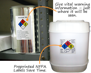 Custom NFPA Chemical Labels