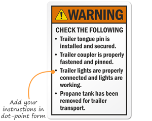 Customazid Warning Labels