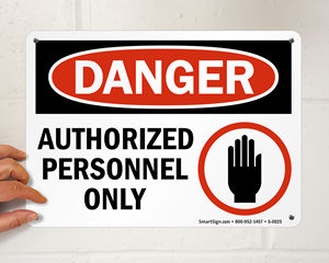 OSHA Danger Labels