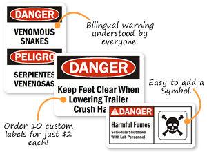 Custom Danger Labels