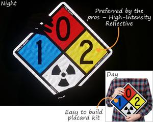 High-intensity reflective placard kit