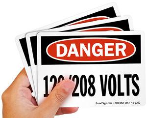 SHA High Voltage Danger Sign and Label