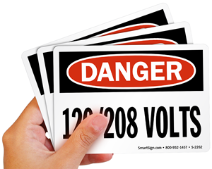 SHA High Voltage Danger Sign and Label