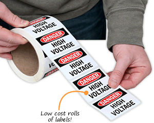 High Voltage Labels Low Cost Sign