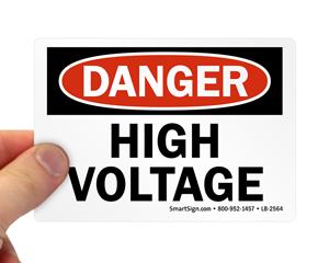 High Voltage Osha Danger Labels